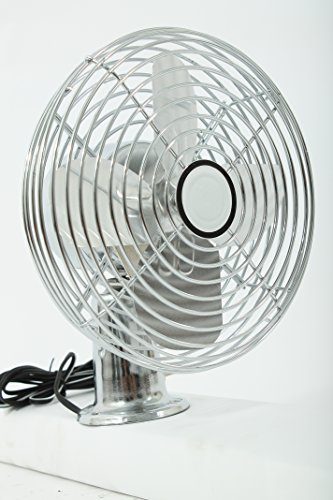 Dash Fan 12 Volt 2 Speed Chrome with 6