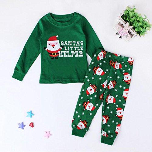 Verde Del Abiti Lunghe Fantasia Natale Outfits amp; Tutu Ragazzi Maniche Pigiama Capodanno Bambino Partito Ragazze Bozevon Set Bambini qAfPgT4