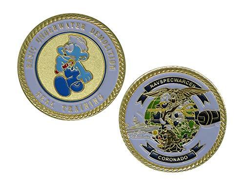 US Navy Basic Underwater Demolition Seal Training Challenge Coin