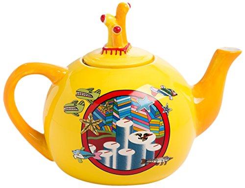 Vandor 73108 The The Beatles Yellow Submarine Ceramic Tea Pot, 32 Ounce (Beatles Tea Set)