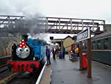 LAMINATED POSTER THOMAS at Wansford, getting ready to pull one of his Branchline Shuttle trains to Yarwell, to celebr...