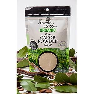 Organic Carob, Australian, True Raw Carob Powder, Superfood, Paleo, (Milled without Heat-off-white in color) NON-GMO,World's #1 Best Tasting, Vegan, Organic Carob Powder, Organic, Carob, 7.05oz.