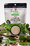 Organic Carob, Australian, True, Raw Carob Powder, Superfood (Milled without Heat/Not Brown/off-white in color) NON-GMO, World's #1 Best Tasting, Vegan, Carob, SharkBar, Organic, Carob, 7.05oz.