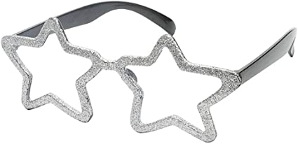 FREE P/&P Adult Silver Frame Glasses With Black Lenses Unisex Fancy Party Dress