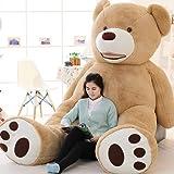 VERCART 8.5 Foot 102 inch Light Brown Giant Teddy Bear Stuffed Animal Plush Toys Gift for Kids Friends