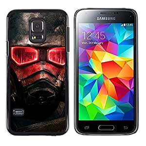 CASEX Cases / Samsung Galaxy S5 Mini, SM-G800, NOT S5 REGULAR! / Red Glow Fallout Soldier # / Delgado Negro Plástico caso cubierta Shell Armor Funda Case Cover Slim Armor Defender