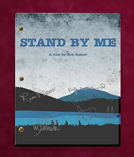 "STAND BY ME MOVIE SCRIPT WITH REPRODUCTION SIGNATURES Phoenix Wheaton ""C3"""