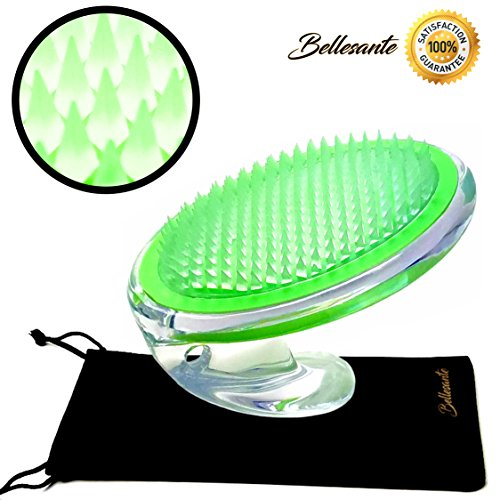Ingrown Hair & Razor Bump Brush - Shaving and Waxing Professional Treatment - Achieve Great Skin with Exfoliation & Microdermabrasion - Beard, Bikini, Legs, Neck, Scalp -Green- By (Bikini Accessory)