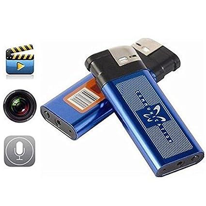 BYD - Cámara en encendedor, Mechero encendedor espía Cámara Oculta Encubierto VideoCámara DVR Vídeo Seguridad