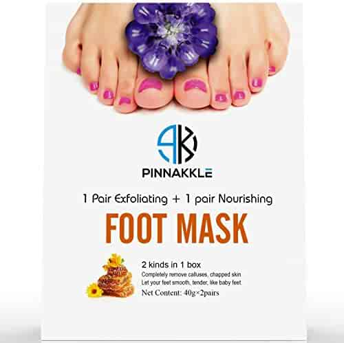 Baby Feet Exfoliating Foot Peel Mask w/ BONUS Nourishing Foot Cream Mask | Exfoliating Feet Calluses and Dead Skin Remover | Get A Baby Soft Foot Touch