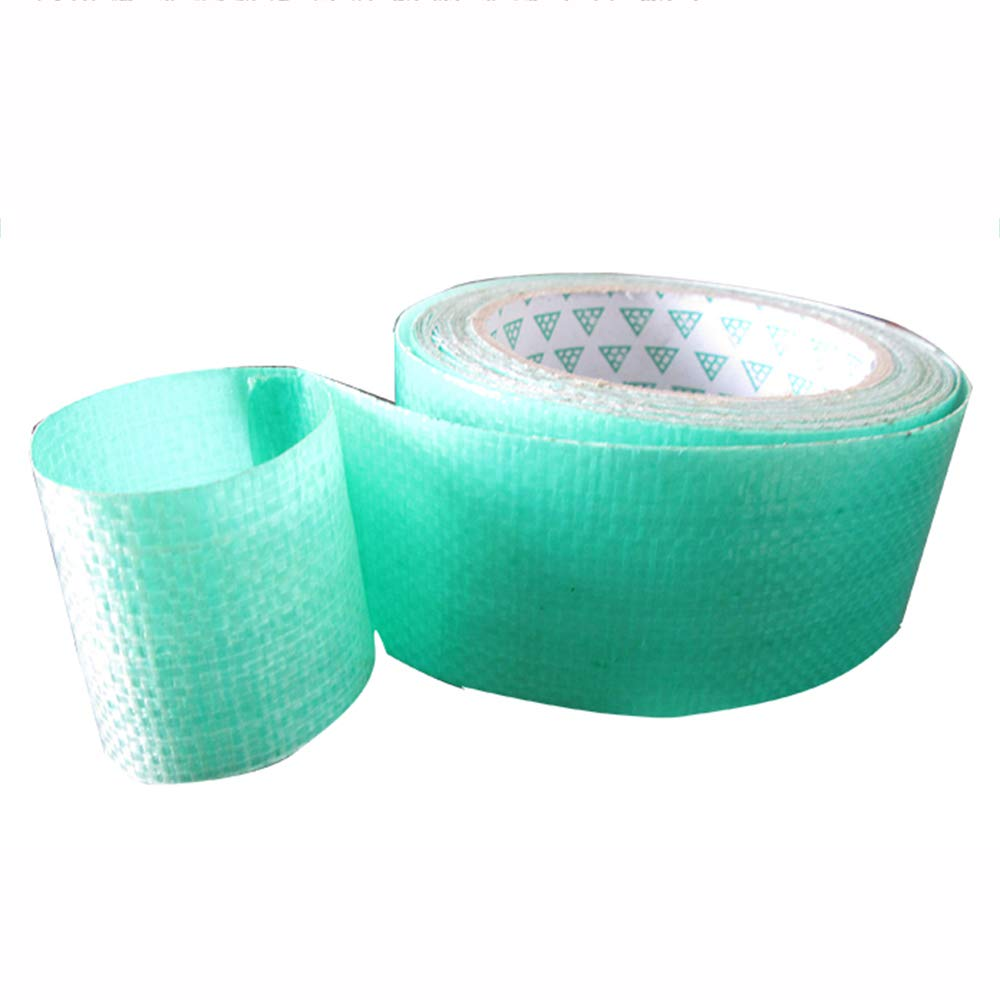 ZZHF pengbu Tarpaulin Repair Tape, Super Sticky Waterproof High Temperature PE Repair Tape, Green, Size Optional (Color : Green4.5cm*8m) yubuqijiandian