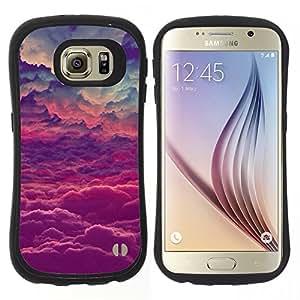"""Pulsar iFace Series Tpu silicona Carcasa Funda Case para Samsung Galaxy S6 , Dios púrpuras Nubes inspiración"""""""