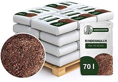 Mammutgarten - mantillo de Corteza de Pino para jardín (10-20 mm, Saco de 70 l x 18 Unidades (1260 L): Amazon.es: Jardín