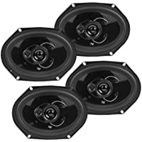 4 New Audiopipe CSL-6803 6x8 300W 3-Way Car Audio Coaxial Speakers