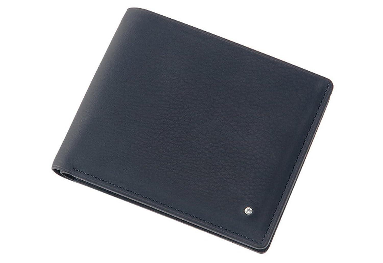 【キプリス】二つ折り財布(小銭入れ付き札入)■オルナートレーニア B073FCBJTMネイビー