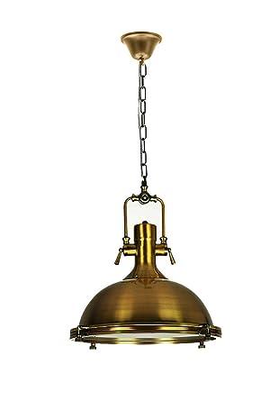 Retro lámpara colgante Hierro forjado Iluminación de 40 × 50 ...
