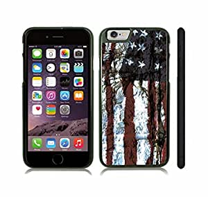 iStar Cases? iPhone 6 Case with American Flag Distressed Grunge Look Design , Snap-on Cover, Hard Carrying Case (Black)