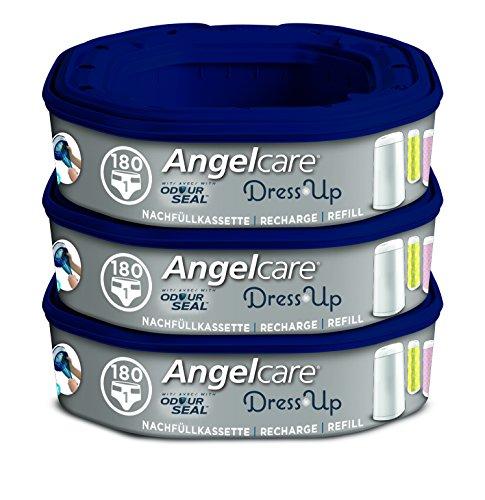 Angelcare AR5003-DE Dress-Up Navulcassettes voor Luieremmer, Set van 3