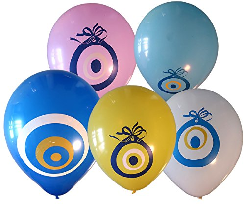 Balloon with Evil Eye Latex Multicolor 2 colors each Pack of 10 pcs party decoration
