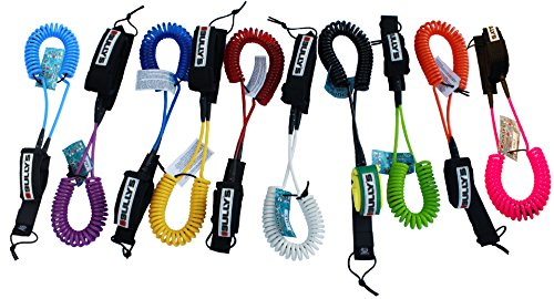 Bully's 10' SUP Coiled Ankle Surfboard Leash - Color Choice