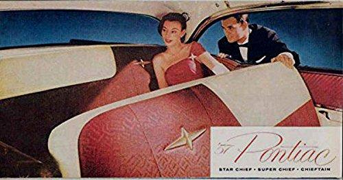 1957 PONTIAC DEALERS COLOR SALES BROCHURE - SHOWS ALL MODELS - ADVERTISMENT 57 PDF