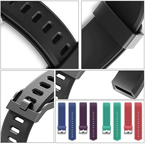 REDGO ID115Plus HR Replacement Band, Fitness Tracker Straps for ID115 Plus HR Bracelet, ID115HR Plus Pedometer, Not for ID115 or ID115HR, Black, Purple 6