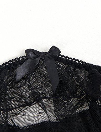 da280f57f964b ohyeahlady Women Plus Size Lace Super Mini Skirt Garter Belt Set with G-String  Suspender