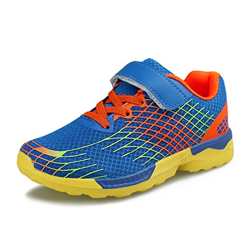 Hawkwell Kids Running Shoes Breathable Lightweight Walking Sneakers(Little Kid),Blue Mesh,13 M US ()