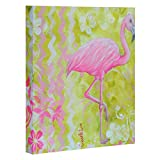 Deny Designs  Madart, Flamingo Dance , Art Canvas , Medium, 16'' x 20''