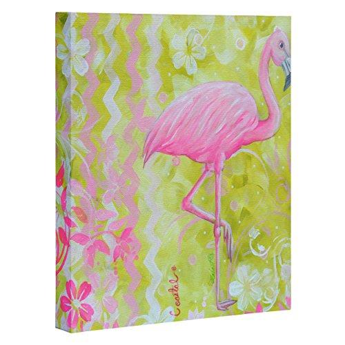 Deny Designs  Madart, Flamingo Dance , Art Canvas , Medium, 16'' x 20'' by Deny Designs