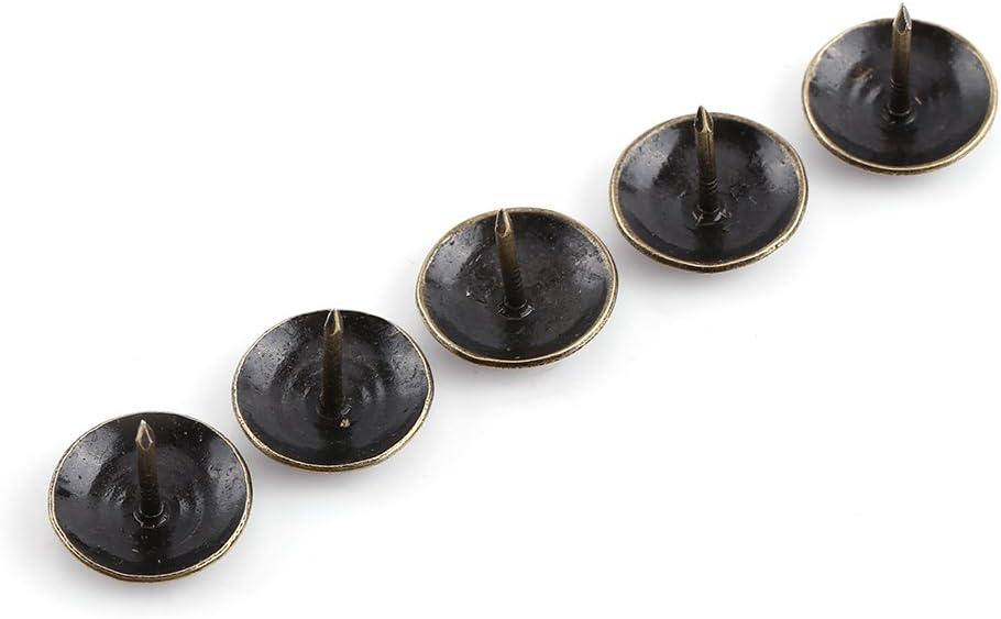 Walfront 1 Sac de 100pcs R/étro Clous D/écoratifs Antiques Couleur Bronze Antique en Fer pour D/écoration Canap/é Tapisser Punaise Meuble