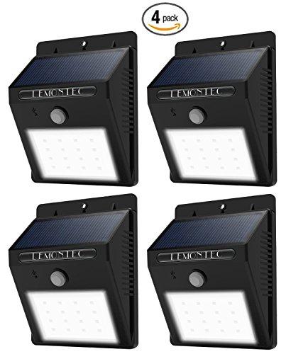 Lemontec Waterproof Wireless Solar Spotlight with Motion Sensor, Pack of 4 Gear And Gadgets Lemontec