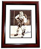 Signed Dickie Moore Photograph - Canadians 8x10 MAHOGANY CUSTOM FRAME Hall of Famer - PSA/DNA Certified