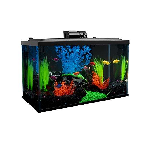 Glofish 10 Gallon Aquarium Fish Tank Kits, Includes LED Lighting and Décor by GloFish