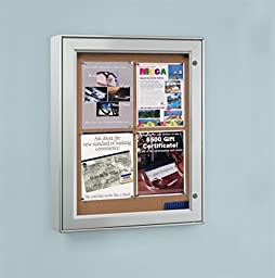 Displays2go ODNBCB4A4 Wall-Mounted Enclosed Bulletin Board