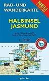 Rad- und Wanderkarte Halbinsel Jasmund: Mit Glowe, Lohme, Sagard, Sassnitz, Ralswiek, Lietzow. Maßstab 1:30.000. Wasser- und reißfest.