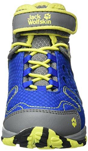 Jack Wolfskin Portland Texapore Mid K, Botas de Senderismo Unisex Niños Blau (Vibrant Blue)