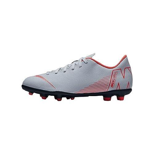 af9e4ad21313e Amazon.com | Nike Kids' Mercurial Vapor 12 Club FG/MG Soccer Cleats ...