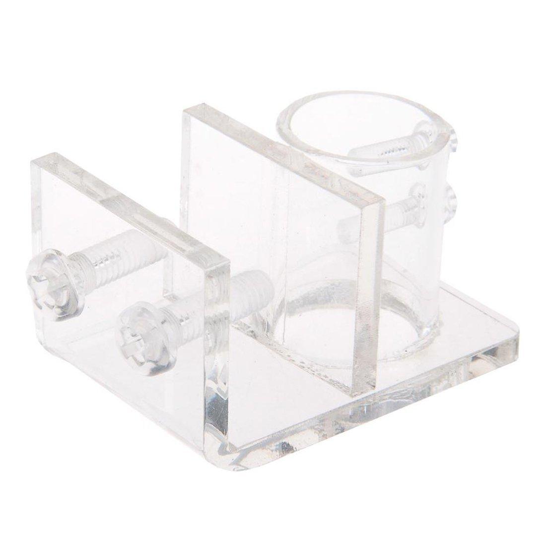 Support en Acrylique Pince Clip pour Aquarium Fish Tank ASTrade TRTA11A