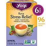 YOGI TEAS Kava Stress Relief Tea, 16 Tea Bags (Pack of 6)