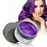 MOFAJANG Hair Color Wax, Instant Hair Wax, Temporary Hairstyle Cream 4.23 oz,Hair Pomades, Natural Hairstyle Wax for Men and Women (Purple)