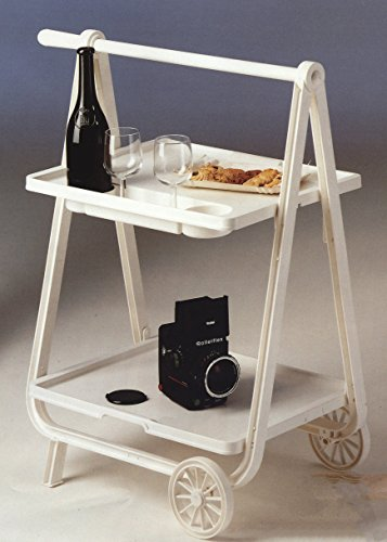 plastmeccanica italy serving cart tea trolley foldable space save handle indoor  outdoor