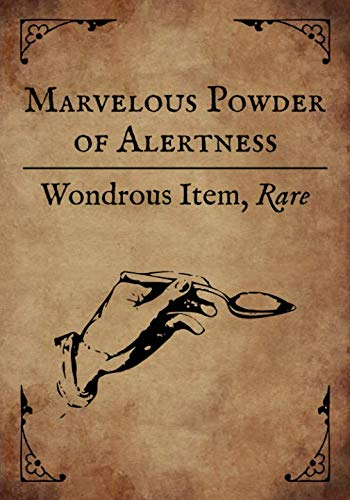RPG Journal: Blank college ruled notebook for role playing gamers: Wondrous Item: Marvelous Powder of Alertness