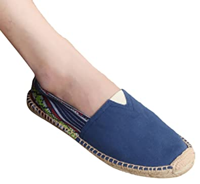 Retro Vintage Teen-Boy's Men's Slip-On Canvas Shoes Loafers Low-Top Casual Summer Sandals