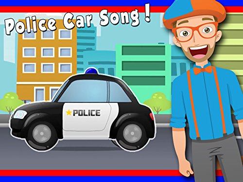 Police Car Song by Blippi - Police Cars for -