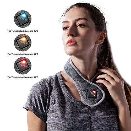 Beautprincess Neck Heating Pad Thermal Pain Relief Wrap Therapy Hot Pack Far Infrared with Bluetooth APP Control by Beautprincess (Image #3)