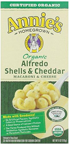 Annie's Homegrown, Organic Alfredo Shells & Cheddar, 6 oz