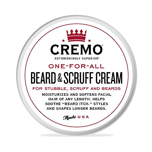 Cremo Beard & Scruff Cream, Moisturizes, Styles And Reduces Beard Itch For All Lengths Of Facial Hair, 4 - Styles Beards