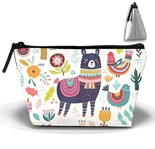 Price comparison product image Portable Cartoon Llama Cosmetic Bag Large Capacity Lazy Travel Makeup Pouch