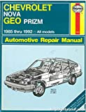 UH1642 Used Haynes Chevrolet Nova Geo Prizm 1985-1992 Auto Repair Manual